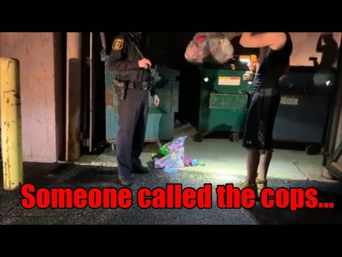 If cops catch you dumpster diving this is how to handle it!