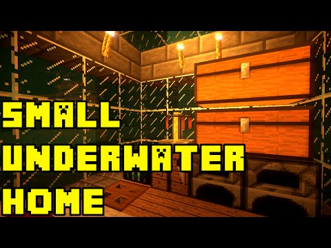 Minecraft: small underwater base/house tutorial xbox/pe/pc/ps3/ps4