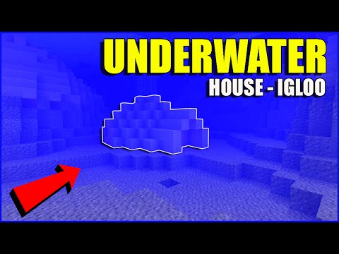 How to build an underwater minecraft house |tutorial| how to make a igloo [ ps3, ps4, xbox, mcpe, ]