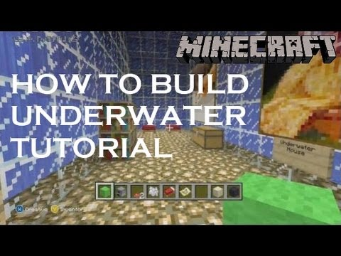 Minecraft how to build an underwater city or house tutorial xbox 360 pc